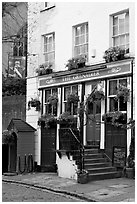 Pub the Grenadier. London, England, United Kingdom ( black and white)
