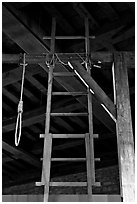 Gallows in the White House, Tower of London. London, England, United Kingdom ( black and white)