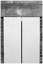 Greenwich meridian, or Prime meridian, the basis of Longitude, Royal Observatory. Greenwich, London, England, United Kingdom ( black and white)