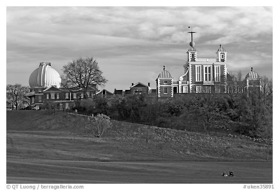 Greenwich Park and Royal Observatory, late afternoon. Greenwich, London, England, United Kingdom