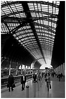 Paddington Rail station. London, England, United Kingdom ( black and white)