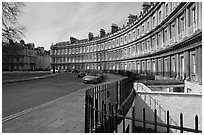 Royal Circus. Bath, Somerset, England, United Kingdom ( black and white)
