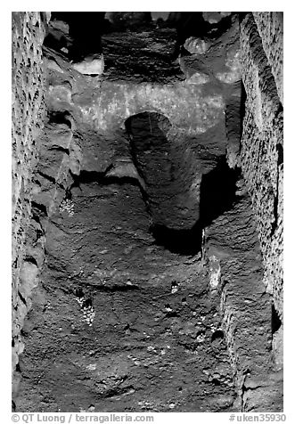 Original water conduct system in the Roman Bath. Bath, Somerset, England, United Kingdom (black and white)