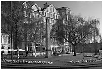 Orange Grove Plaza and Empire Hotel. Bath, Somerset, England, United Kingdom ( black and white)