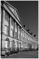 Lansdown Crescent. Bath, Somerset, England, United Kingdom (black and white)