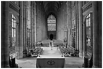 Altar and Nave, Canterbury Cathedral. Canterbury,  Kent, England, United Kingdom ( black and white)