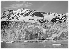 Front of Surprise Glacier. Prince William Sound, Alaska, USA (black and white)