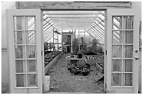 Greenhouse used for vegetable growing. McCarthy, Alaska, USA ( black and white)