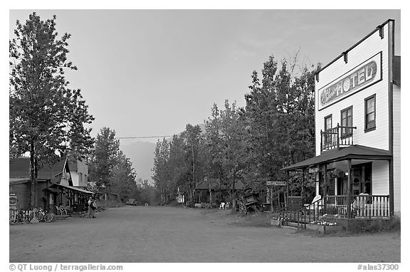 Main street. McCarthy, Alaska, USA (black and white)
