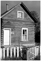 Wooden house. Hope,  Alaska, USA ( black and white)