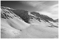 Arctic Mountains near continental divide. Alaska, USA ( black and white)