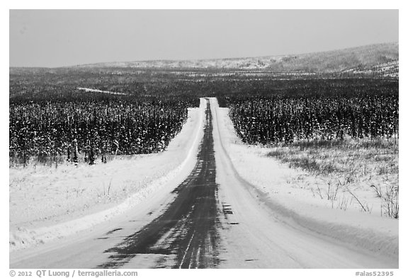 North Slope Haul Road in winter. Alaska, USA