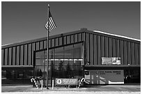 Post office. North Pole, Alaska, USA ( black and white)