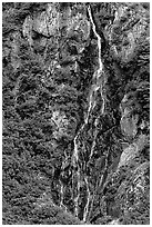 Waterfall. Alaska, USA ( black and white)