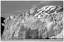 Surprise glacier. Prince William Sound, Alaska, USA ( black and white)