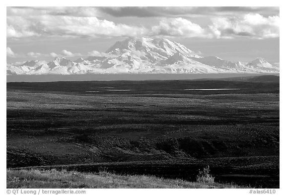 Wrangell Range. Alaska, USA (black and white)