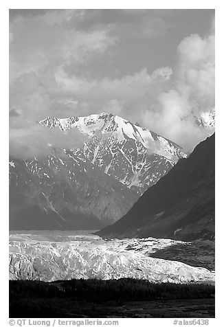 Matanuska Glacier. Alaska, USA (black and white)