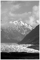 Matanuska Glacier. Alaska, USA ( black and white)
