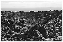 Lava fields, Glass Mountain. California, USA ( black and white)