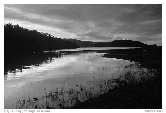 Humbolt Lagoon, sunrise. California, USA (black and white)