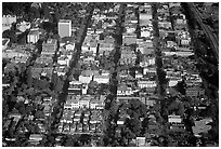 Aerial view of downtown. Palo Alto,  California, USA ( black and white)