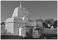 Conservatory of the Flowers, late afternoon. San Francisco, California, USA ( black and white)