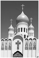 Holy Virgin Russian Cathedral. San Francisco, California, USA ( black and white)