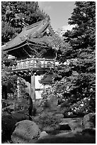 Entrance of Japanese Garden, Golden Gate Park. San Francisco, California, USA ( black and white)