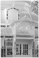 Conservatory of the Flowers, Golden Gate Park. San Francisco, California, USA ( black and white)