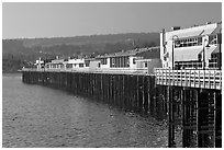 Santa Cruz Wharf. Santa Cruz, California, USA (black and white)