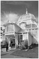 Entrance of the Conservatory of Flowers. San Francisco, California, USA ( black and white)