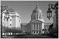City Hall. San Francisco, California, USA ( black and white)