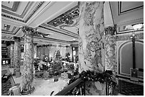 Lobby of the Fairmont Hotel. San Francisco, California, USA ( black and white)