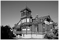 Victorian style Villa Montenzuma. San Diego, California, USA ( black and white)