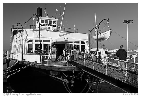 The Berkeley, a 1898 steam ferryboat that operated for 60 years in the SF Bay, Maritime Museum. San Diego, California, USA (black and white)