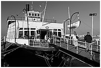 The Berkeley, a 1898 steam ferryboat that operated for 60 years in the SF Bay, Maritime Museum. San Diego, California, USA ( black and white)