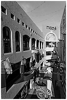 Westfield Horton Plaza designed by Jon Jerde. San Diego, California, USA (black and white)