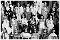 Mexican style dolls, Old Town. San Diego, California, USA ( black and white)