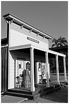 Johnson house, Old Town State Historic Park. San Diego, California, USA ( black and white)