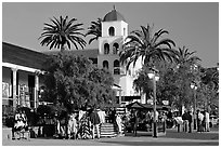 Street, Old Town State Historic Park. San Diego, California, USA ( black and white)