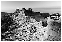 Broken Hill and Ocean,  Torrey Pines State Preserve. La Jolla, San Diego, California, USA ( black and white)