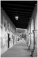 South Wind Corridor. San Juan Capistrano, Orange County, California, USA ( black and white)