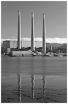 Duke Energy power plant. Morro Bay, USA (black and white)