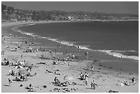 New Brighton State Beach, afternoon, Capitola. Capitola, California, USA ( black and white)
