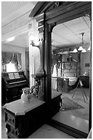 Last room of Sarah Winchester. Winchester Mystery House, San Jose, California, USA ( black and white)