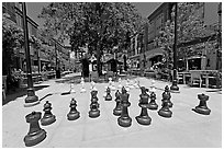 Giant Chess set. Santana Row, San Jose, California, USA ( black and white)