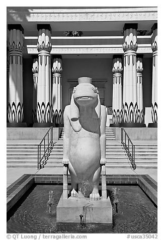 Statue of Taweret, egyptian hippo goddess of fertility, Rosicrucian Museum. San Jose, California, USA