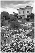 Emma Prush Farmhouse. San Jose, California, USA ( black and white)