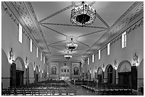 Chapel, Mission Santa Clara de Asis, Santa Clara University. Santa Clara,  California, USA ( black and white)