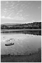 Lake Lagunata with the Dish in background. Stanford University, California, USA ( black and white)